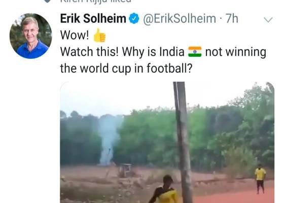 भारत चाहे तो फुटबॉल में भी विश्व कप जीत सकता है ये वीडियो कुछ ऐसा ही बयां कर रहा है